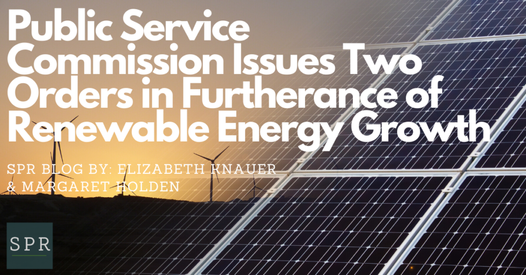 Public Service Commission Issues Two Orders in Furtherance of Renewable Energy Growth (1)