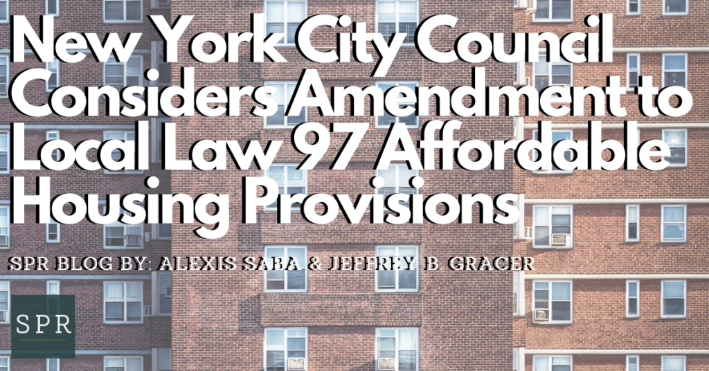 New York City Council Considers Amendment to Local Law 97 Affordable Housing Provisions