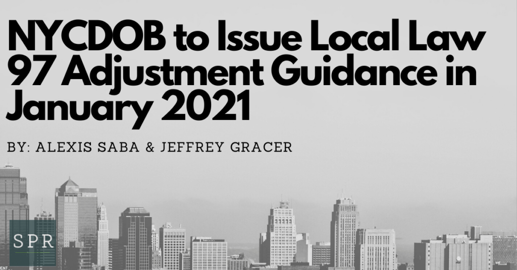NYCDOB to Issue Local Law 97 Adjustment Guidance in January 2021